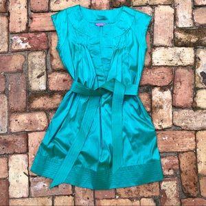 Calypso Christiane Celle Teal Shift Dress Silk